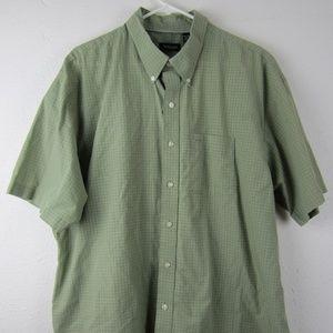 Van Heusen Green Button Front Shirt XXL
